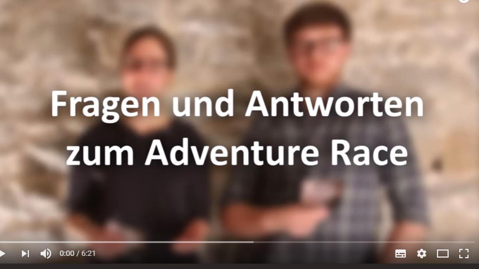 Studierende erklären, was das Adventure-Race ist