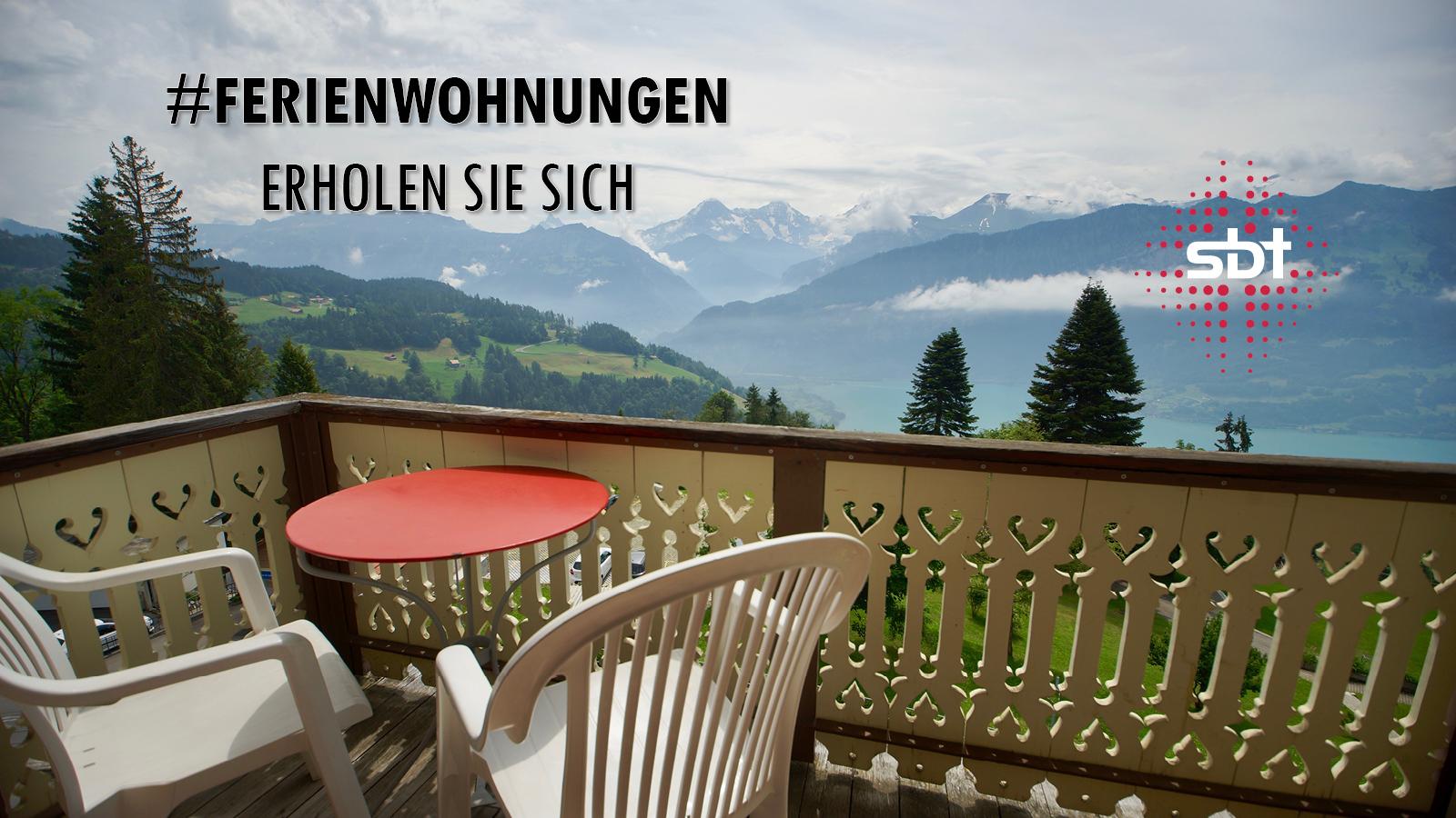 Ferienwohnungen - mit Blick auf Eiger, Mönch und Jungfrau