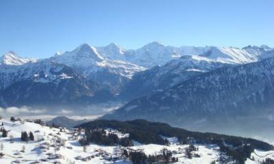Unsere Aussicht - Eiger, Mönch und Jungfrau