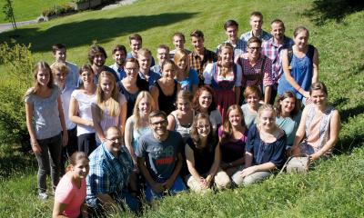 Studentenschar - Gruppenfoto